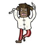 cartoon crazy mad man Royalty Free Stock Photo