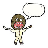 cartoon crazy mad man Royalty Free Stock Image