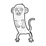 cartoon crazy monkey Stock Image
