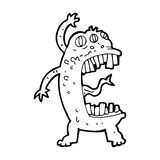 cartoon crazy monster Stock Image