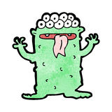Cartoon crazy monster Royalty Free Stock Image