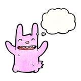 cartoon crazy pink rabbit Royalty Free Stock Photos