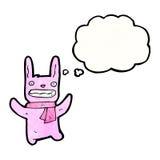 cartoon crazy pink rabbit Royalty Free Stock Photo