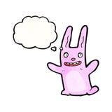 cartoon crazy pink rabbit Royalty Free Stock Image