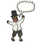 Cartoon crazy tramp Royalty Free Stock Photo