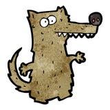 cartoon crazy wolf Stock Photography