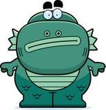 Cartoon Creature Bored. A cartoon illustration of a fish creature looking bored Stock Photos