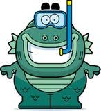Cartoon Creature Snorkeling Royalty Free Stock Photo