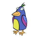 Cartoon crested tropical bird. Stock Photography