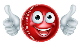 Cartoon Cricket Ball Character Stock Photos