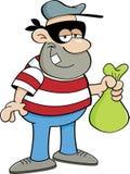 Cartoon criminal Stock Image