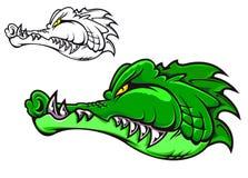 Cartoon crocodile Stock Photography