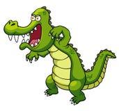 Cartoon crocodile. Illustration of Cartoon crocodile on white Stock Photos