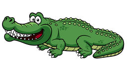 Cartoon crocodile Royalty Free Stock Photos