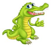 Cartoon Crocodile or Alligator Stock Images