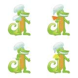 Cartoon crocodile cook Royalty Free Stock Photos