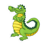 Cartoon crocodile. Stock Photography