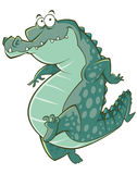 Cartoon crocodile illustration Royalty Free Stock Photo