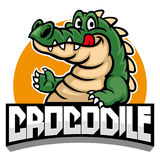 Cartoon of crocodile mascot stock illustration