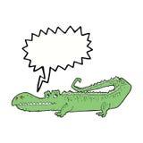Cartoon crocodile with speech bubble vector illustration