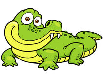 Cartoon crocodile Stock Photos