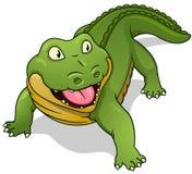 Cartoon crocodile. Vector illustration. Royalty Free Stock Image