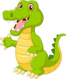Cartoon crocodile waving hand Royalty Free Stock Photography