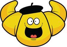 Cartoon Croissant Happy Royalty Free Stock Image