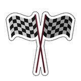 Cartoon crossed flag start racing design. Cartoon crssed flag start racing design  illustration eps 10 Stock Photography