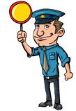 Cartoon crossing guard Royalty Free Stock Photos