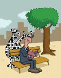 Cartoon about crossword puzzles Stock Photography
