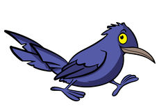 Cartoon crow Stock Photography