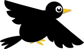 Cartoon crow. Cute cartoon crow on a white background Stock Images
