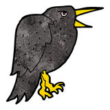 cartoon crow Stock Images