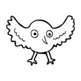 Cartoon crow Royalty Free Stock Photo