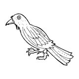 Cartoon crow Royalty Free Stock Images
