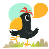 Cartoon crow talking Royalty Free Stock Photos