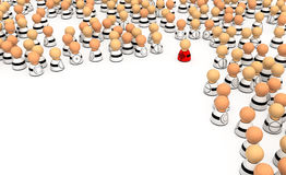 Cartoon Crowd, Aim. Crowd of small symbolic 3d figures, isolated Stock Photos