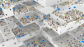 Cartoon Crowd, Architecture Abstract Royalty Free Stock Photo