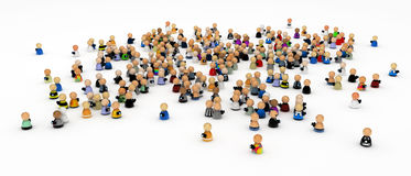 Cartoon Crowd with Cameras royalty free stock photography