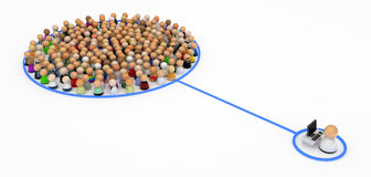Cartoon Crowd, Computer Control Stock Image