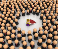 Cartoon Crowd, Corporate King Stock Photo