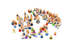 Cartoon Crowd, Day Care. Crowd of small symbolic 3d figures, isolated Stock Image