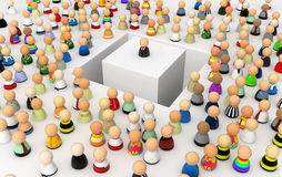 Cartoon Crowd, Deep Moat Royalty Free Stock Photography