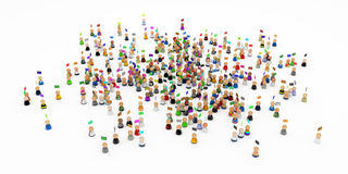 Cartoon Crowd, Emails Royalty Free Stock Images