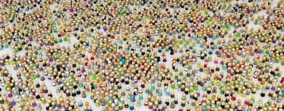 Cartoon Crowd, Figure Field Royalty Free Stock Photo