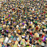 Cartoon Crowd, Fill Royalty Free Stock Photography