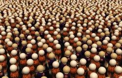 Cartoon Crowd, Halloween Stock Image