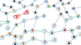 Cartoon Crowd, Heart Couple Royalty Free Stock Image