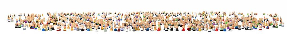 Cartoon Crowd, Huge Quantity Royalty Free Stock Image